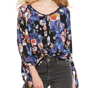 Free people floral long sleeve euc